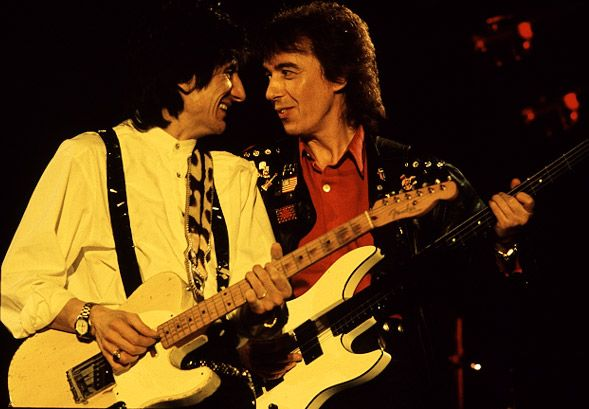 Bill Wyman and Ronnie Wood