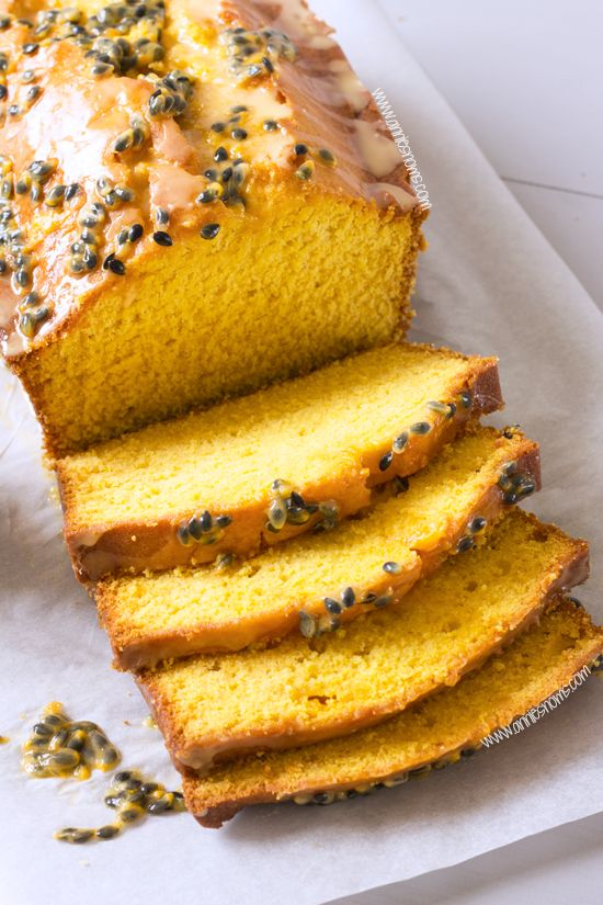 A soft and tender mango loaf cake given an extra zing with a fresh passion fruit glaze. Easy to make and an ideal crowd-pleaser. It's also perfect with your afternoon tea!
