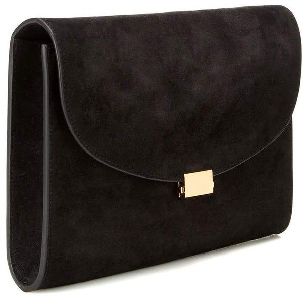 Mansur Gavriel Suede Clutch ($755) ❤ liked on Polyvore featuring bags, handbags, clutches, suede handbags, mansur gavriel, mansur gavriel handbags, suede leather handbags and suede clutches