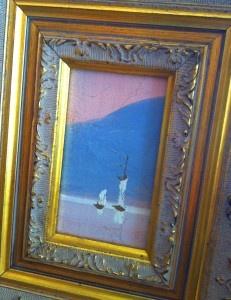 vintage sailboat painting  #coastal #decor #chateausophie