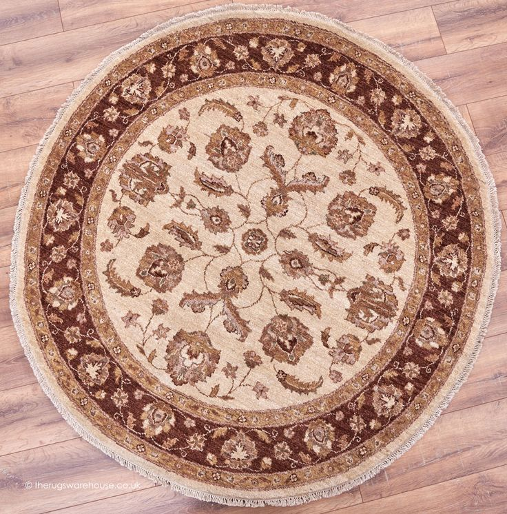 Afghanistan In Shades Of Beige Brown Rust Http Www Therugswarehouse Co Uk Round Rugs Ziegler Royal Circle 817 Rug Html