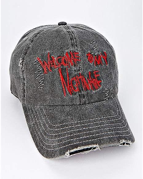 Black A Nightmare On Elm Street Dad Hat - Spencer s  b6a8f1713d50
