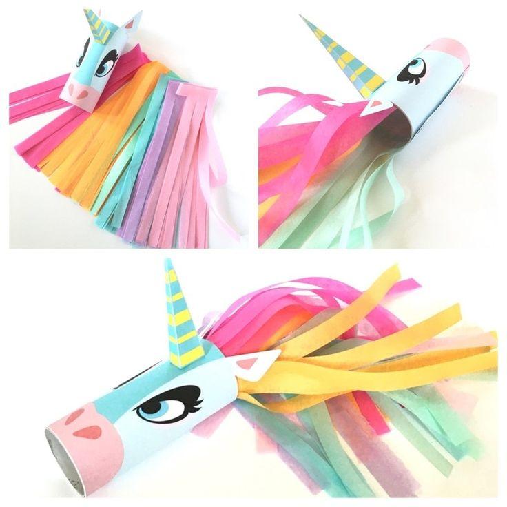 Unicorn Head Toilet Tube Craft Printable
