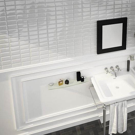Metrotegel 7,5 x 15 cm blanco wit glanzend per m2 online bestellen ...