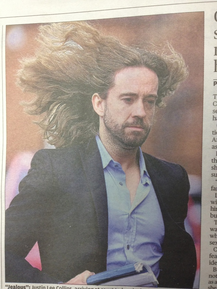 Amusing picture in the Evening Standard of a rather windsept Justin Lee Collins