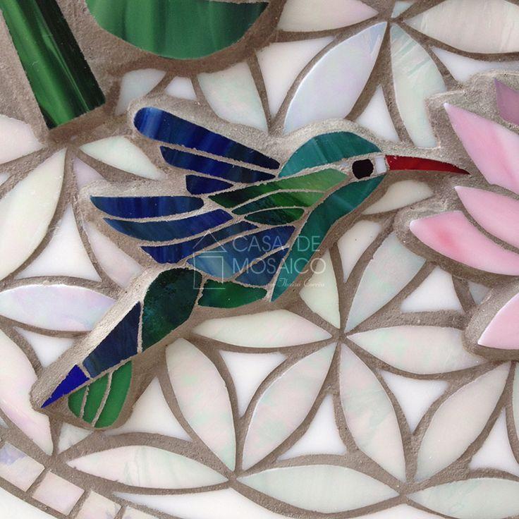 Mandala, beija-flor e flor de Lótus | O Blog da Casa de Mosaico