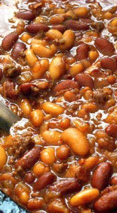 Best Ever Crockpot Cowboy Beans