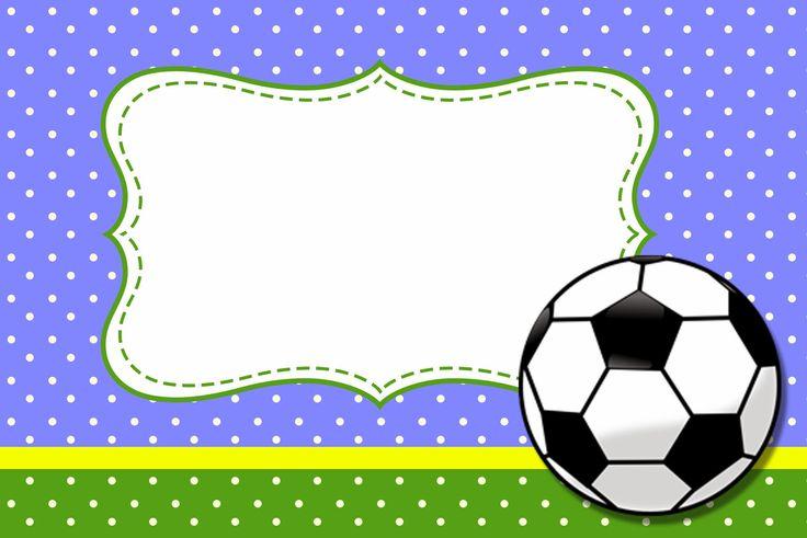 Fútbol: Tarjetas o Invitaciones para Imprimir Gratis.                                                                                                                                                                                 Más