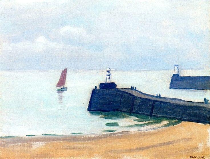 albert marquet les sables | The Jetties, Les Sables-d'Olonne / Albert Marquet - 1933 | ART