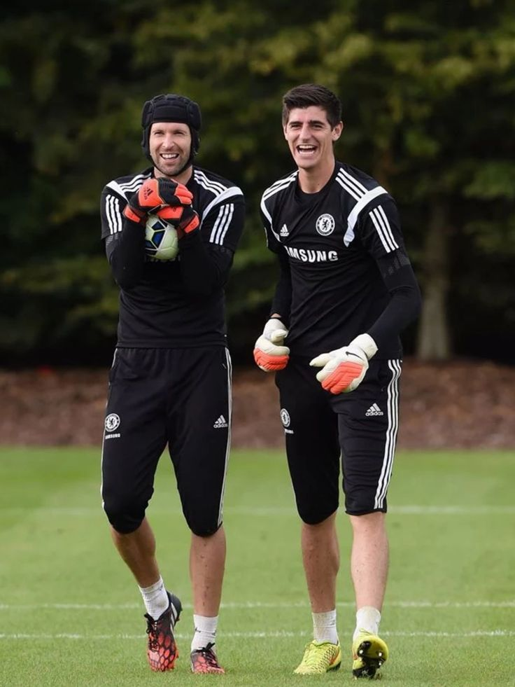 Petr Cech & Thibaut Courtois. Top talent in one photo!