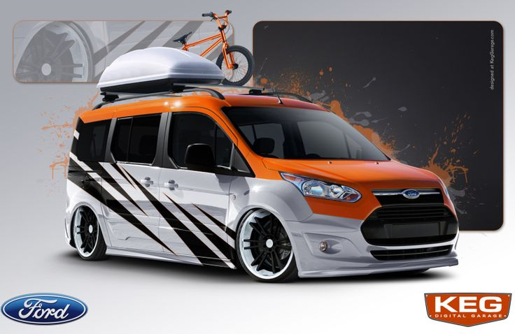With spots for six bikes and six people, the Ford Transit Connect, tuned by Strange Motion, is the perfect ride for hauling BMX gear.