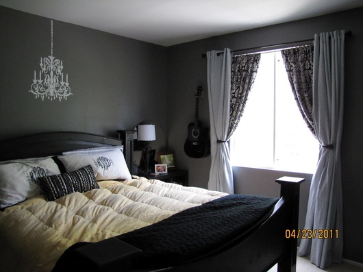 Seal grey glidden paint dream house pinterest white for Charcoal grey bedroom designs