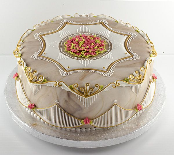 Amazing stringwork cake entirely done in royal icing from CakeCentral.com by Gefion