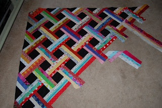 Scraps and Threadtales: Basket weave quilt - lessons learned (ing!)