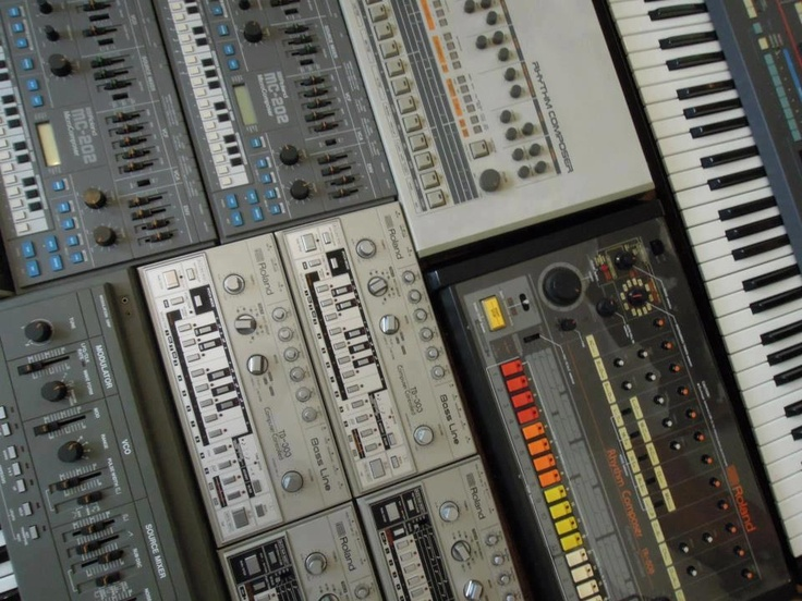 a collection of some roland classics including the legendary tr 808. Black Bedroom Furniture Sets. Home Design Ideas