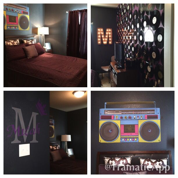 Teenager's hip hop themed room
