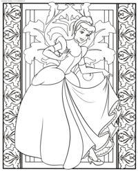 Disney Princess Cinderella - herunterladen und drucken Färbung. Coloring Cinderella Coloring für Kinder Cinderella Disney Färbung herunterladen