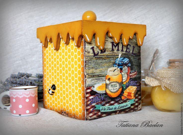 """Купить Короб для кухни """"Лавандовый мёд"""" - короб, короб для хранения, короб для кухни, короб для специй"""