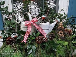 Rustic Watering Cans Windowboxes ~ Our Fairfield Home & Garden