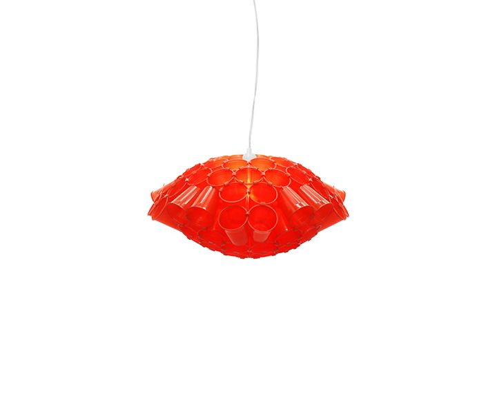 Beautiful Lichtschlucker Pendant Ilghts By Meike Harde   Made With Different  Configurations Of Disposable Cups Pictures Gallery