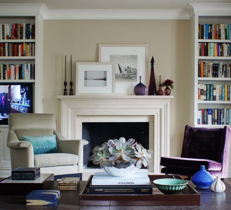 Decorating Ideas. Good Looking Fireplace Mantel Decorating Ideas. Modern Living Room Style With Wooden Bookshelves And Contemporary Fireplace Mantel Decorating Plus Wooden Coffee Table