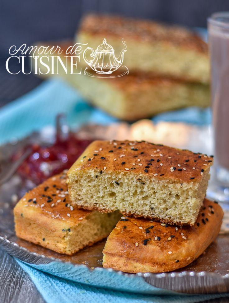 khobz dar sans petrissage / pain maison Bonjour tout le monde,  voila un délicieux khobz eddar...
