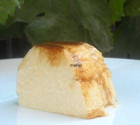 Pasteles de colores: Flan de yogur griego