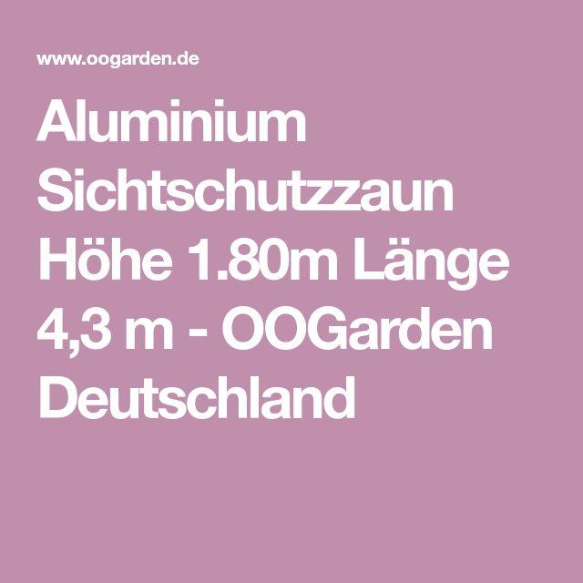 aluminium sichtschutzzaun h he l nge 4 3 m sichtschutzzaun zaun aluminium