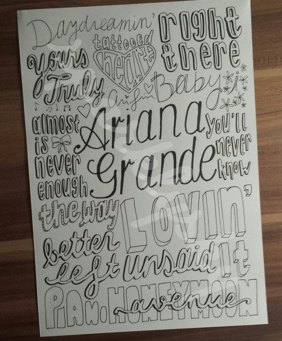 Yours Truly- Ariana Grande I need to make one of these