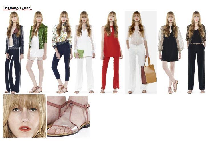 Preview Spring Summer 2014 apparel, shoes and make up by Cristiano Burani ----- pre-collezione moda trend Primavera Estate 2014 abbigliamento scarpe accessori e trucco