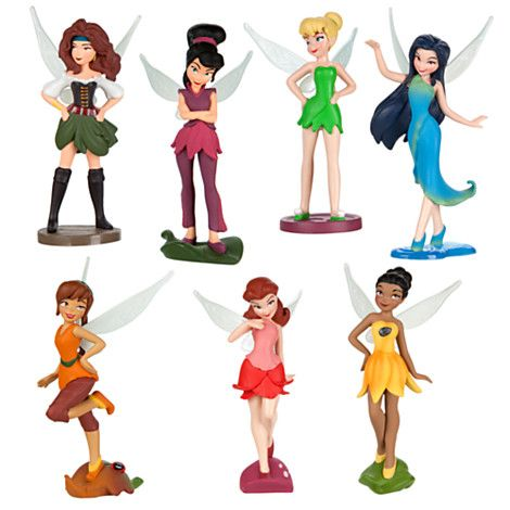 Disney Fairies Figurine Play Set - The Pirate Fairy $12.95 Sea sprites Set sail with Tinker Bell and her figurine fairy friends for hours of pixie-dusted pirate play! Recreate your favorite magical moments from Disney's The Pirate Fairy with this set that includes dust-keeper fairy Zarina