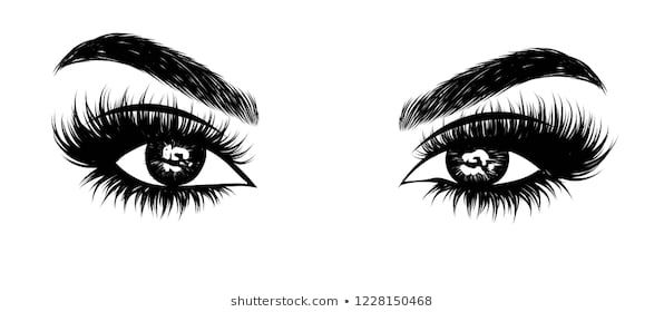 Abstract Fashion Illustration Of The Eye With Creative Makeup