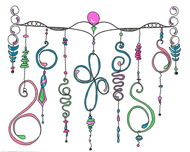 Dangley Doodles Collage by Paint Chip, via Flickr