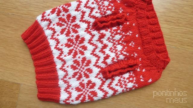 pontinhos meus: Camisola de Natal - Christmas dog sweater