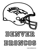 broncos coloring page - 17 best images about preschool theme football on