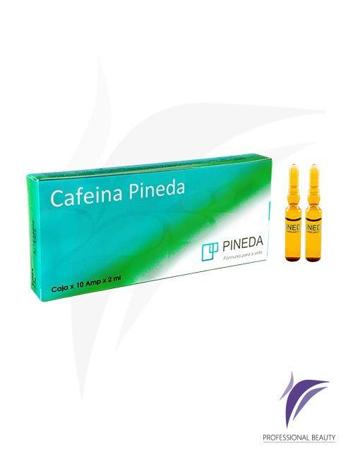 Cafeína Pineda Caja x10 ampolletas de 2ml: La Cafeína actúa como un potente liporeductor que acelera la reducción del tejido adiposo localizado.