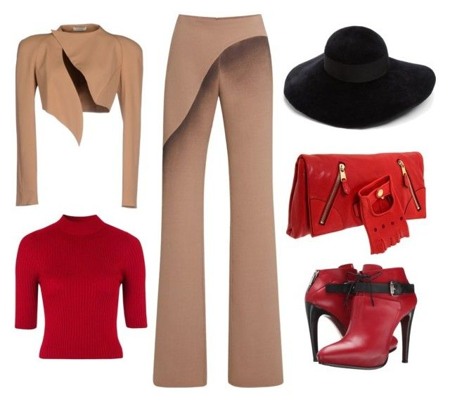 """A little camel for hump day"" by theranna on Polyvore featuring Thierry Mugler, Marc Jacobs, Topshop, COSTUME NATIONAL, Alexander McQueen and Eugenia Kim"