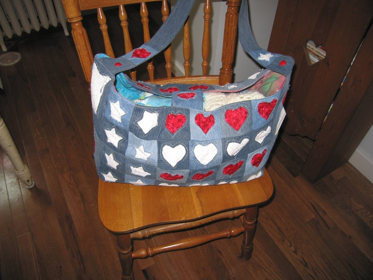 My homage to the American Flag!  This is a diaper bag I made for my new grandson whose daddy is in the  US Air Force.: Diaper Bags, American Flag