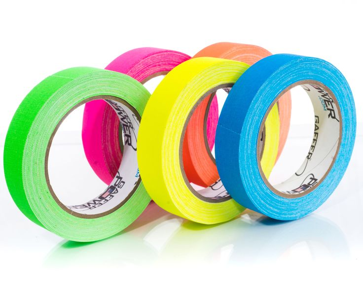 Multi Color Fluorescent Pack - 1 Inch x 20 Yards