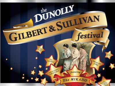 Rodney Pike Design. Corporate identity: The Dunolly Gilbert & Sullivan Festival. The small Central Goldfield's town of Dunolly in Victoria hosts a Gilbert & Sullivan Festival in mid October. Performing in various historic venues around the town, with emphasis on audience participation and sing along. Another Rodney Pike Design