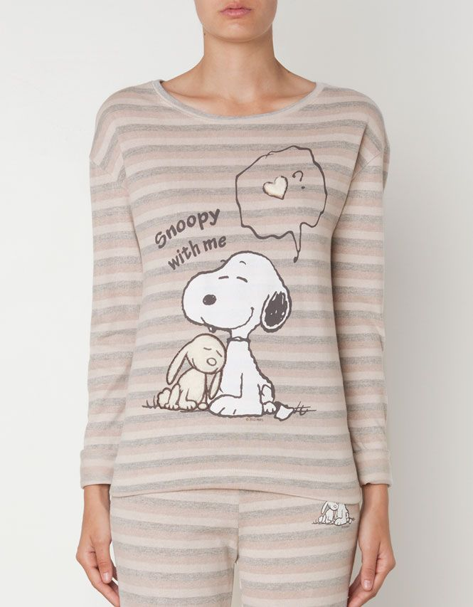 Snoopy stripe print top - T-shirts - Oysho & Friends - United Kingdom