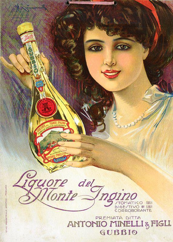 Vintage Italian Posters ~ Liquore del Monte Ingino