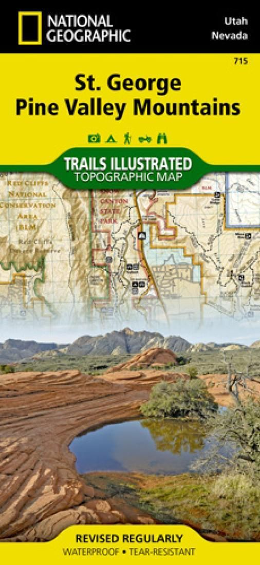 St George, Pine Valley Mountains, Map 715 by National Geographic Maps