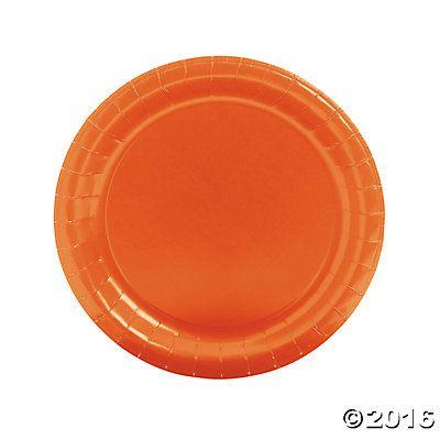 Round Orange Dinner Plates