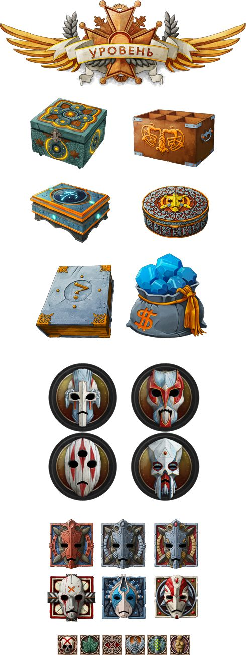 Mirohod icons game user interface gui ui | Create your own roleplaying game material w/ RPG Bard: www.rpgbard.com | Writing inspiration for Dungeons and Dragons DND D&D Pathfinder PFRPG Warhammer 40k Star Wars Shadowrun Call of Cthulhu Lord of the Rings LoTR + d20 fantasy science fiction scifi horror design | Not Trusty Sword art: click artwork for source
