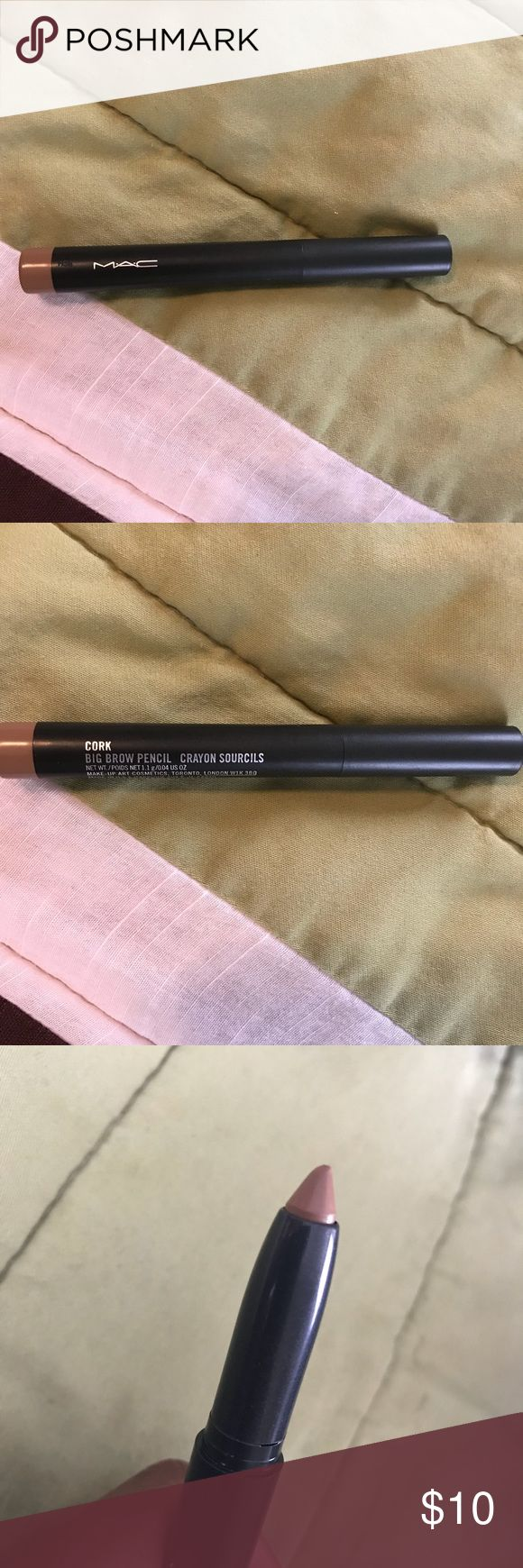 MAC Eyebrow Pencil- Cork MAC Big Brow Pencil in the shade Cork. It has been gently swatched on skin, but never used. MAC Cosmetics Makeup Eyebrow Filler
