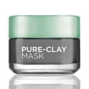 The new Pure-Clay Detox & Brighten Treatment Mask. 3 pure clays and Charcoal to detox and act like a magnet, pulling out impurities like dirt and oil in just 10 minutes.