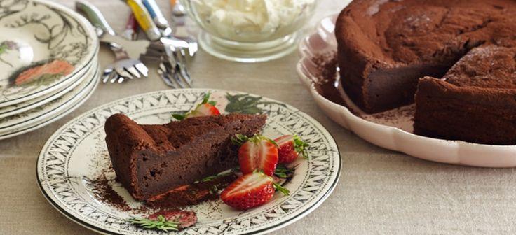 Pressed Valrhona Chocolate Cake