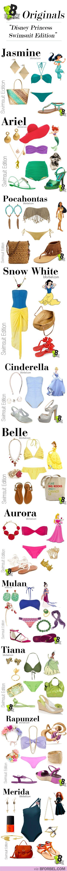 "BforBel Originals: ""Disney Princess Swimsuit Edition"" #style #fashion #bikini"
