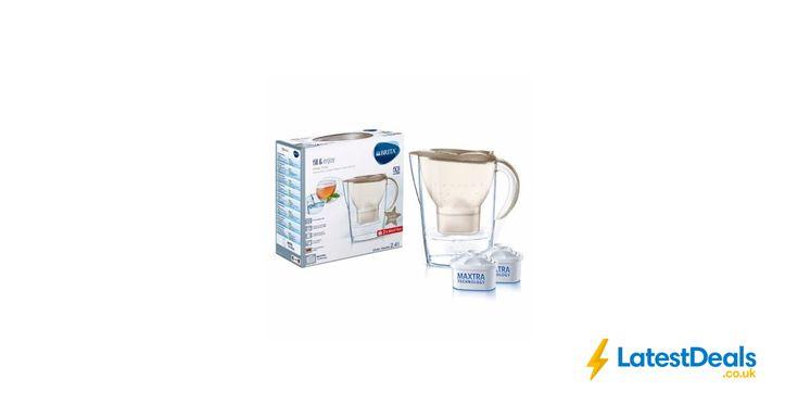 BRITA Marella Water Filter Jug + 2 MAXTRA Cartridge - Gold Glitter, £14.95 at ebay